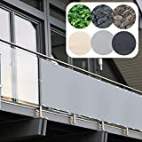 Balkon Sichtschutz PVC   90x600 cm   Extra Blickdicht   Balkonverkleidung aus wetterfestem...