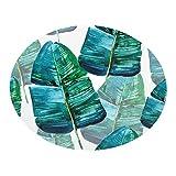 Teppich Oval Hochwertige Fußmatte Orientteppich Tropische Pflanzenblätter Fußmatte Komfortables...