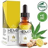 (2er Pack) Bio Hanföl-Extrakt - 1000MG – mit Kurkuma- & Ingwer-Geschmack, Natürliche Linderung...