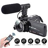 CamKing Videokamera Camcorder, DV02 FHD 1080P 24.0MP 16X Digitale Videokamera mit externem Mikrofon...