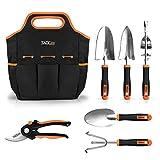 TACKLIFE Gartenwerkzeug Sets, Gartengerte aus Edelstahl (7in1) : Werkzeug Beutel, Gartenschere,...