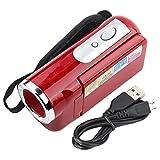 WESE Camcorder-Recorder, DV-Camcorder USB2.0 Muti-Funktion mit TFT-Display zum Radfahren für(rot)