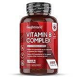 EINFÜHRUNGSPREIS 2020 Vitamin B Komplex - 180 vegane Tabletten mit B12 - Besonders hochdosiert...