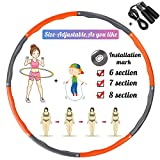 TvvaaFog Verbesserte Version Hula Hoop Reifen Erwachsene,Hula Hoop zur Gewichtsreduktion und...