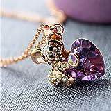 Geschenk der Mutter Tageskristallrhinestone Dame hug Herz Br Halskette bestes Geschenk fr Mdchen,...