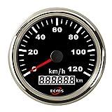 Dhmm123 Digital Auto Motorrad 85mm GPS Tacho 0-120Km / h Kilometerzähler Kilometerzähler...
