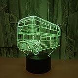 Dual-Deck-Bus, Büro Dekorationen Lampe Geburtstagsgeschenk Weihnachtsgeschenk Cartoon Spielzeug...