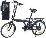 eRädle Elektro Fahrrad: Klapp-Pedelec 20' mit bürstenlosem Motor, 2 Akkus (je 4,4 Ah), 25 km/h...