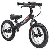 BIKESTAR Laufrad mit Seitenstnder und Bremse fr Kinder ab 3 Jahren, 30,5 cm, Schwarz (matt)