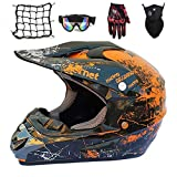 NKFDLY-Motorradhelm, Motorrad Crosshelm,Full Face MTB Helm Kinder CrossHelm Motorradhelm...