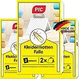 PIC Kleidermottenfalle - Dreierpack = 6 Stück - Mittel gegen Kleidermotten, geeignet zum Schutz...