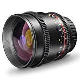 Walimex Pro 85mm 1:1,5 VCSC Video- und Fotoobjektiv für Sony E Objektivbajonett schwarz (manueller...