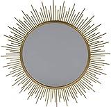 Spiegel, rund, 39 cm, goldfarben