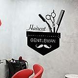 mlpnko Herren Friseursalon Friseurschere Schere Gentleman Wanddekoration Innendekoration Tapete...