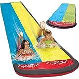 Steadyuf Wasserrutsche, 480 x 145cm Wasserrutsche Rutschmatte Wasserrutschbahn Rutsche Wassermatte...