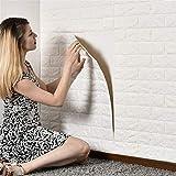 10 stücke 70 * 77 * 0,8 cmPE Schaum 3D Selbstklebende Wandaufkleber Tapete Geprägte Ziegel weiß...