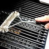 Heydayling Reinigungsbürsten mit Handgriff 12-Zoll-Grillbürste, Edelstahl-Drahtborste, Durable