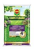 COMPO FLORANID Rasendünger gegen Unkraut+ Moos Komplett-Pflege, 3 Monate Langzeitwirkung,...