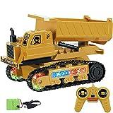 W&HH 1:24 RC Bagger, 4-Kanal Sattelzugmaschine Baggerwagen, Wiederaufladbares Kinderspielzeug Mit...