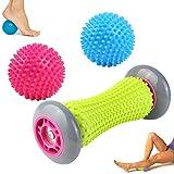 WeyTy Fußmassage Roller Igelball 3er Set, Massageball für Plantarfasziitis, Fußmassage Balls &...