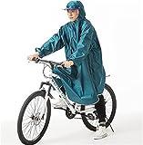 Cuzit Regenponcho für Fahrrad, Regenponcho, wasserdicht, für Outdoor-Sportarten, Camping, Wandern,...
