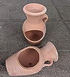 2. Wahl !! Aktion!! liegende bepflanzbare Amphore 20 cm aus Terracotta Terrakotta Vase Liegeamphore...
