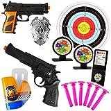 alles-meine.de GmbH XL Set _ Dartspiel - Pistole & Gewehr _ incl. 3 Zielscheiben & Munition - aus...
