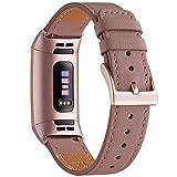 WFEAGL Armband Kompatibel für Fitbit Charge 3 Armband/Fitbit Charge 4 Armband Leder, Klassisch...