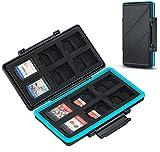 JJC 36 Steckplätze Speicherkarten Etui Tasche Aufbewahrung für 24 Micro SD SDXC SDHC + 12 Nintendo...