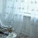 ZYY-Home curtain Wolke Voile Vorhang Stickerei Kinder Transparent Vorhänge Kräuselband...