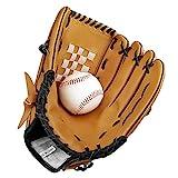 Baseball Handschuhe aus PU-Leder Baseball Glove Batting Handschuhe mit Einem Ball Softball...