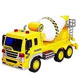 HERSITY Betonmischer Spielzeug Auto Fahrzeuge Groß mit Sound und Licht LKW Sandkasten...