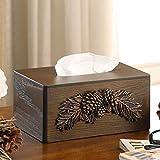 Nuokix Tissue Speicher Tissue Box Europäische Minimalist Kreative Wohnzimmer Startseite Holztablett...