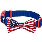 Blueberry Pet Nationalstolz Klassische Handgefertigte Amerikanische Flagge Fliege Hundehalsband in...