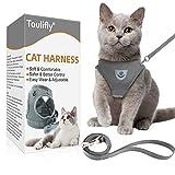 Toulifly Katzengeschirr, Katzen Weste mit Leine, Verstellbare Geschirr für kleine Katze und Hunde,...