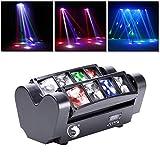 UKing Head LED Lichteffekt DJ Partylicht Disco Bühnenlicht DMX512 with RGBW Lichter für Bar...