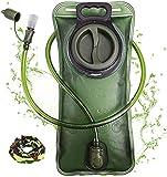 Trinkblase 2 Liter mit auslaufsicherer Wasserreservoir, Military Wasser Aufbewahrung Blase Tasche,...