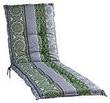 Liegenauflage Polsterauflage Gartenauflage   Grün   Mandalamotiv   60 x 190 cm   Baumwolle  ...