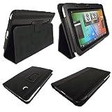 Schwarz PU Leder Schutzhlle mit Aufsteller fr HTC Flyer Android Tablet Schutz Sicherheit schtzt vor...