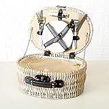 Tamia-Home 12tlg Picknickkorb fr 2 Personen Picknickkoffer mit Khlfach und Picknickset Picknick Korb...