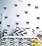 22 teile/satz DIY schaukelpferd abnehmbare tapete aufkleber wandaufkleber wohnzimmer schlafzimmer...