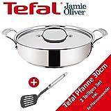 Tefal H60140 Jamie Oliver Servier-Pfanne 30cm, TESTSIEGER, Induktion geeignete Bratpfanne, mit...