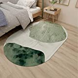 Simple Ins Style Rugs for Living Room|Oval Modern Bedroom Carpet Tiles|4 Styles|Pink Green