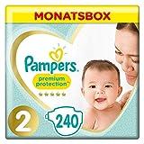 Pampers Premium Protection Windeln, Gr. 2, 4-8kg, Monatsbox (1 x 240 Windeln), Pampers Weichster...