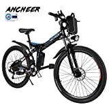 ANCHEER Elektrofahrrad Faltbares Mountainbike, 36V 8Ah Lithium-Batterie 26 Reifen Elektrisches...