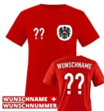 Trikot - at - WUNSCHDRUCK - Herren T-Shirt - Rot/Weiss-Schwarz Gr. M