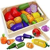 Airlab Küchenspielzeug für Kinder aus Holz, Kinderküche Zubehör, Schneiden Obst Gemüse...