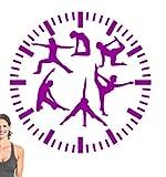 Wandaufkleber 60 * 60Cm Fitness Clock Wall Sticker Gym Decorative Mural Badezimmer Kinderzimmer...