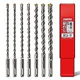 SCHWABENBACH ® SDS PLUS Betonbohrer Set - Super SDS Bohrer Set - 7tlg. 6 8 10 12 14 x 210 mm -...