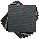 Premium Teppichfliesen Nadelfilz - 1m² - anthrazit - selbstklebend
